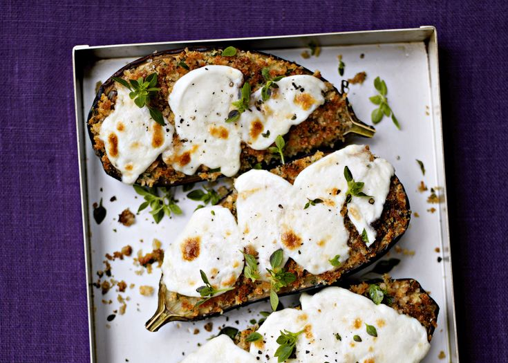 sauteed aubergines and mozzarella | #recipe #vegetarian #foodwise