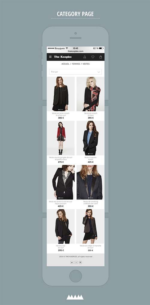 The kooples redesign concept - mobile version V2 | Design: UI/UX. Apps. Websites | Léo Sestier |