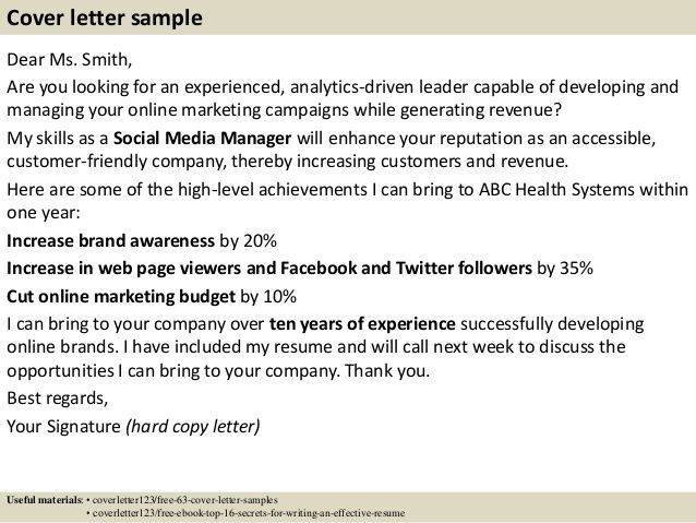 cover letter Sample Marketing Manager Resume sample marketing