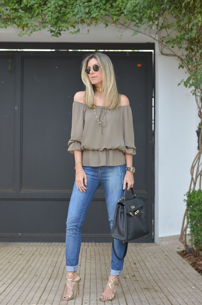 Nati Vozza do Blog de Moda Glam4You dá dia de look casual chic para o trabalho.