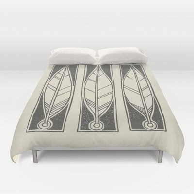 Ethnic Feathers Duvet Cover by Nameless Shame - $99.00