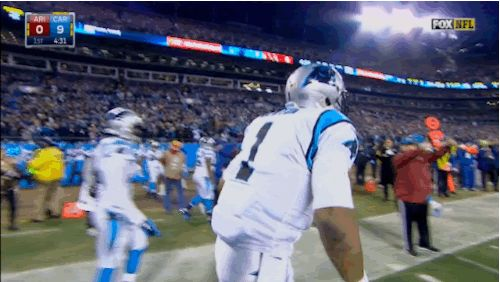 Cam Newton's NFC Championship Performance Was One Entertaining GIF After Another