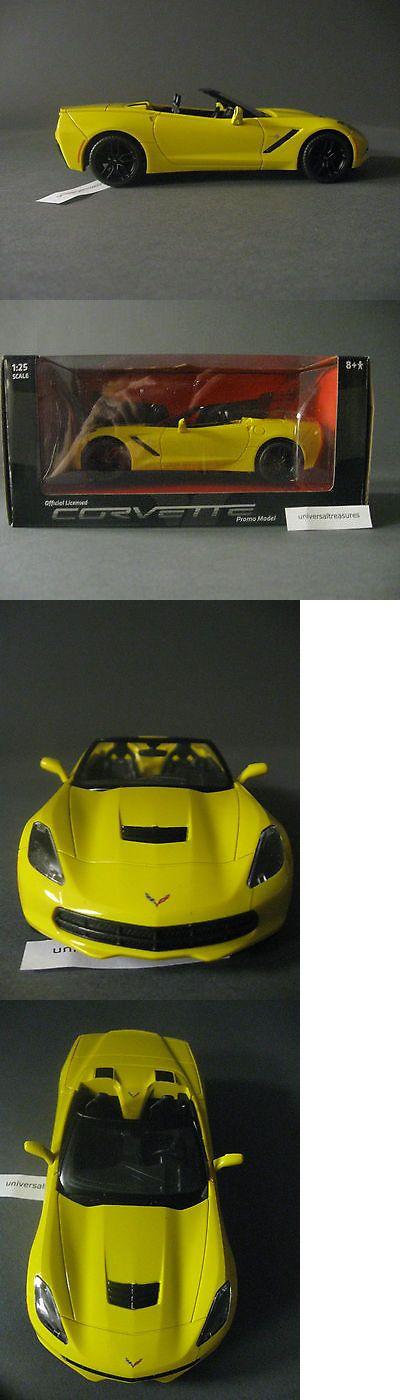 Promo 2592: 2015 C7 C-7 Corvette Stingray Convertible Yellow Promo Model Car Chevy Chevrolet -> BUY IT NOW ONLY: $30 on eBay!