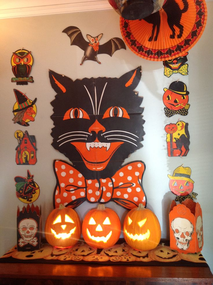 great vintage collection of beistle halloween die cuts we had all of these on display at my house circa - Beistle Halloween Decorations