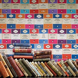 Osborne & Little Penguin Library Multi Wallpaper available through www.heals.co.uk 65.00 GBP Special order Item Lead Time 2-4 weeks