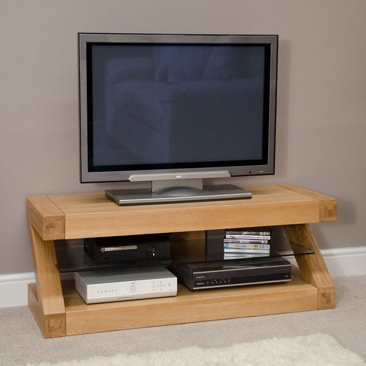 second hand solid oak tv stand