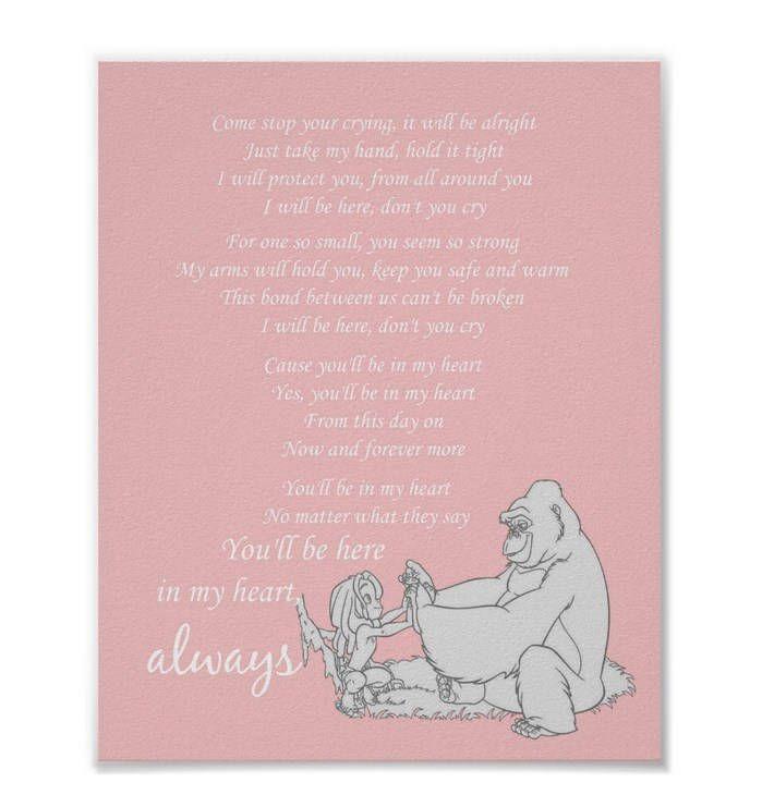 Thanks for the great review sarah ★★★★★! http://etsy.me/2C0FvLp #etsy #art #printmaking #disney #tarzan #love #print #childrensroom #nursery #infant #baby shower #gift #you'llbeinmyheart
