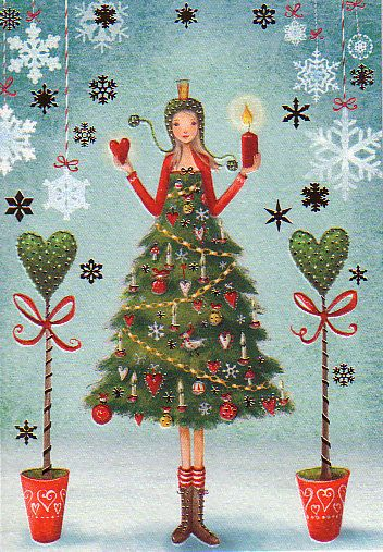 Christmas card by Mila Marquis *