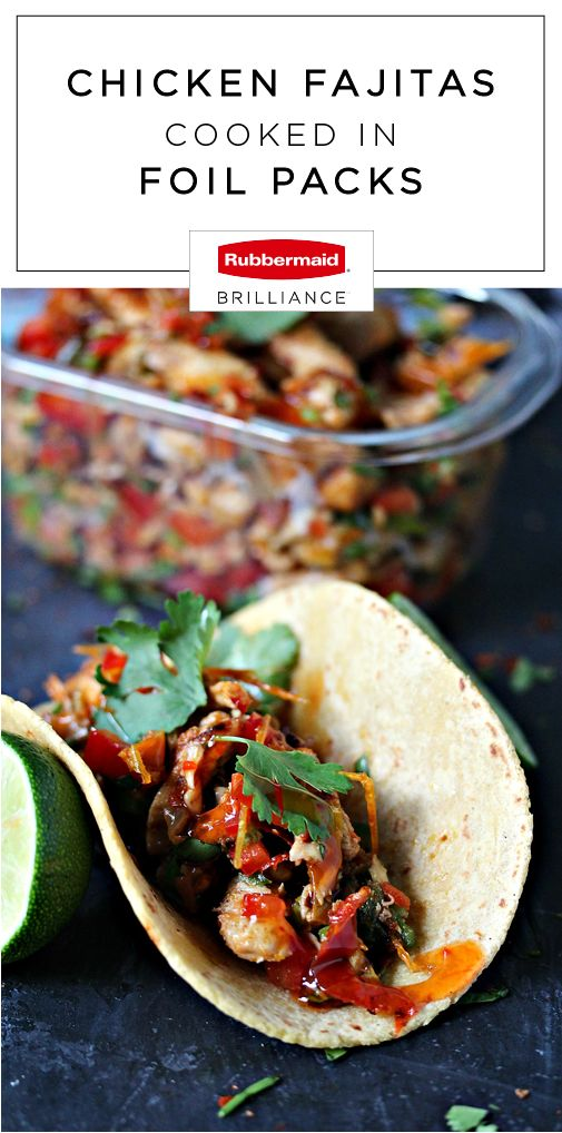 13 best smart food storage meal prep images on pinterest food not only will this recipe for chicken fajitas cooked in foil packs make for one delicious dinner idea thanks to rubbermaid brilliance food storage forumfinder Image collections