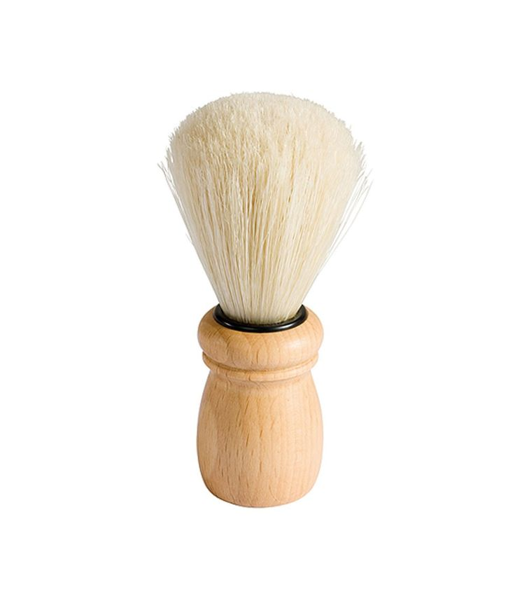 Shave in style with this gentleman's brush. Hand made in Germany using sustainable beechwood and natural bristles. Contoured handle for easy grip - no slip shaves. | huntingforgeorge.com