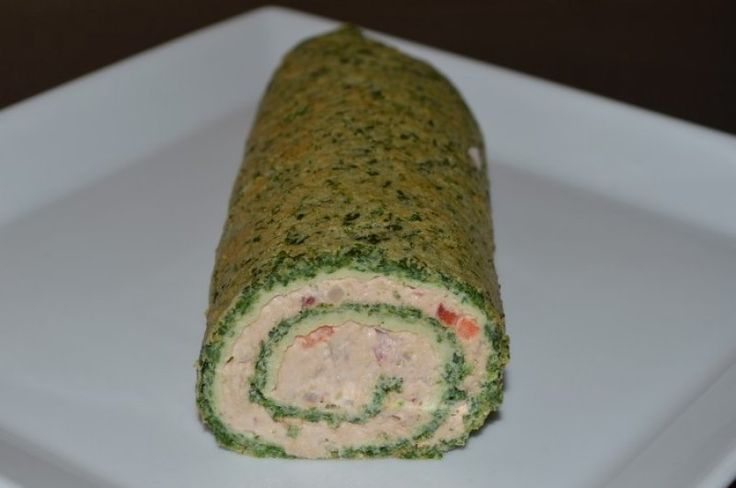 Spinatroulade med tun/laks