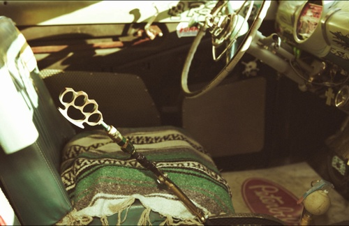 Seat Covers For Trucks >> Brass knuckles car shifter - Mexican blanket seat cover | Beep Beep | Pinterest | Blankets, Get ...