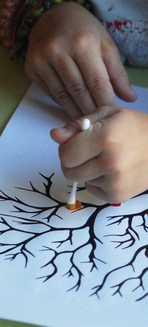Pointillisme au coton-tige   jouonsensemble
