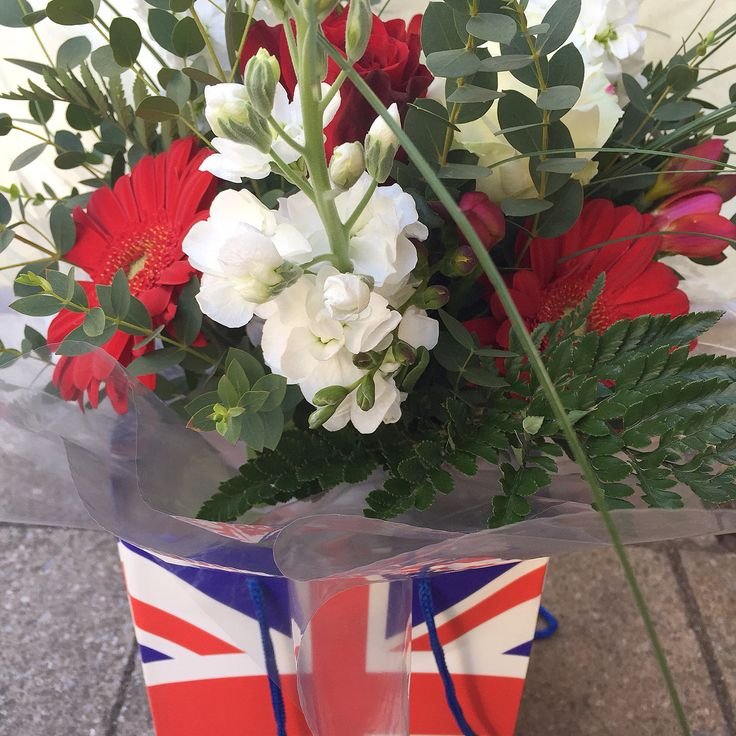 St George's day bouquet, Lotty's flowers Kent.