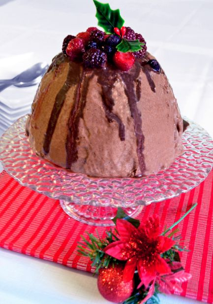 Festive Mock Choc Ice Cream Cake by Anna McManamey| Sweeter Life Club