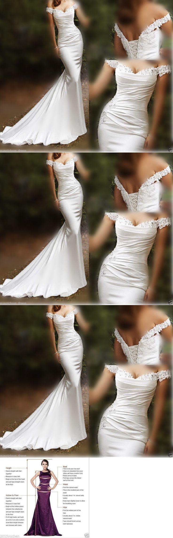 Wedding Dresses: Mermaid White Ivory Wedding Dress Bridal Gown Custom Size 6 8 10 12 14 16 18 20+ -> BUY IT NOW ONLY: $138 on eBay!