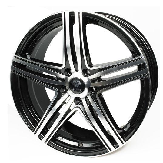 DIAMOND CRUSH BLACK POLISHED alloy wheels at http://www.turrifftyres.co.uk/alloywheels #alloy #wheels #rims #mag #cars #DIAMOND #CRUSH #BLACK POLISHED