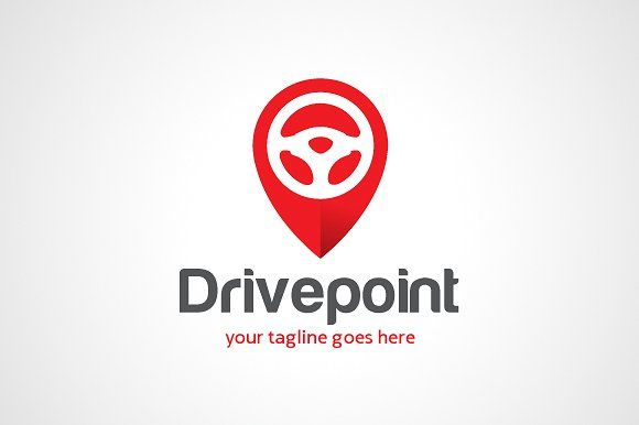 Drive Point Location Logo Template by gunaonedesign on @creativemarket