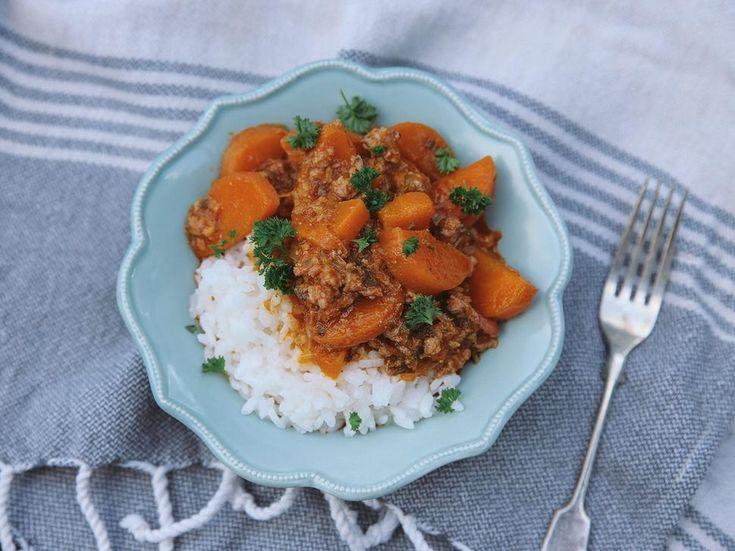 Pork Mince Recipe with Caramelised Carrots - Viva