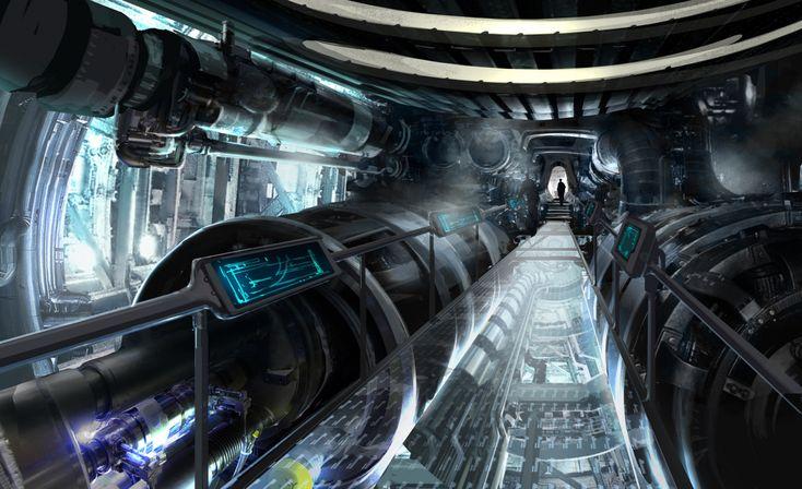 Futuristic interior cyberpunk atmosphere star trek for Cyberpunk interior design