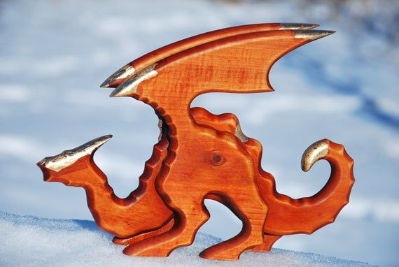 Wood gift for mens gift ideas game of thrones good luck amulet gift for him dragon sculpture hand carved dungeons and dragons dragon age