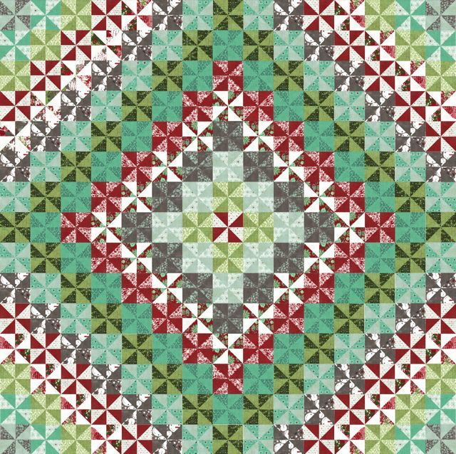 Christmas pinwheel quilt