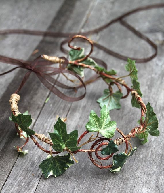 Romantic Ivy Head Wreath  Wedding Halo  Outdoor by sparkleandposy, $34.00