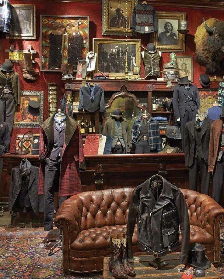 Visual merchandising. Retail store display. Men's clothing and accessories. Ralph Lauren.