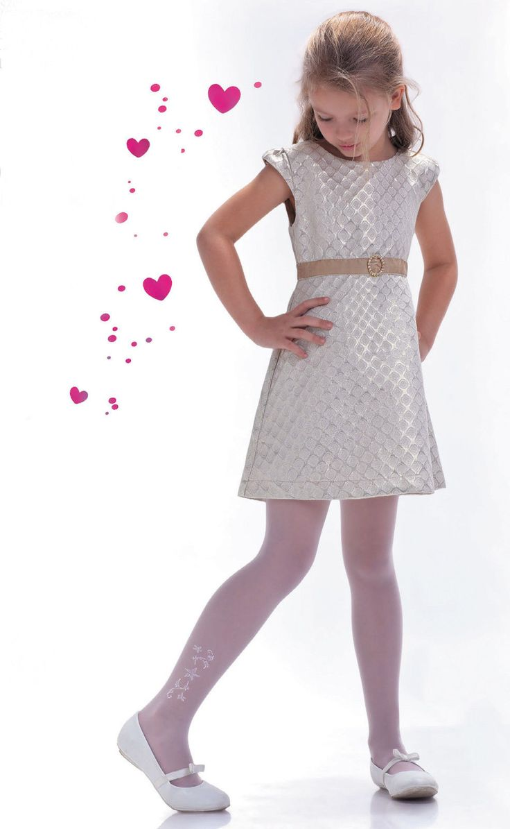 Beautiful 20 den transparent elastane tights suitable for First Holy Communion, all kind of Girls Party and as the Bridesmaid. The tights have a decorative side pattern, which makes the tights look luxury and unique. | eBay!