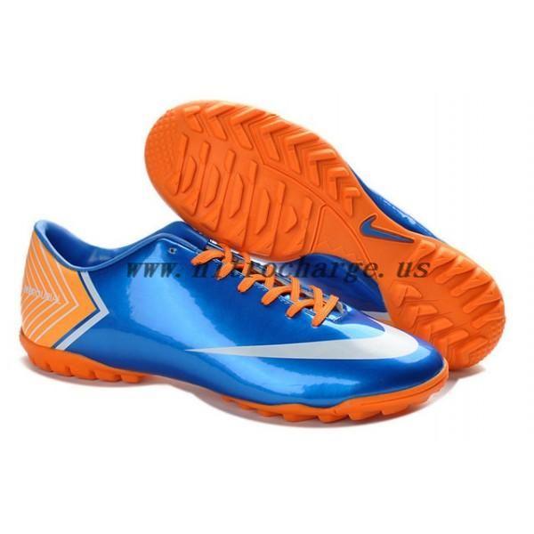discount nike mercurial vapor x tf royal blue orange white shoes shop