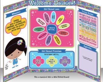 Daisy Girl Scout Agenda Meeting Handout Printable by BellaNoche1