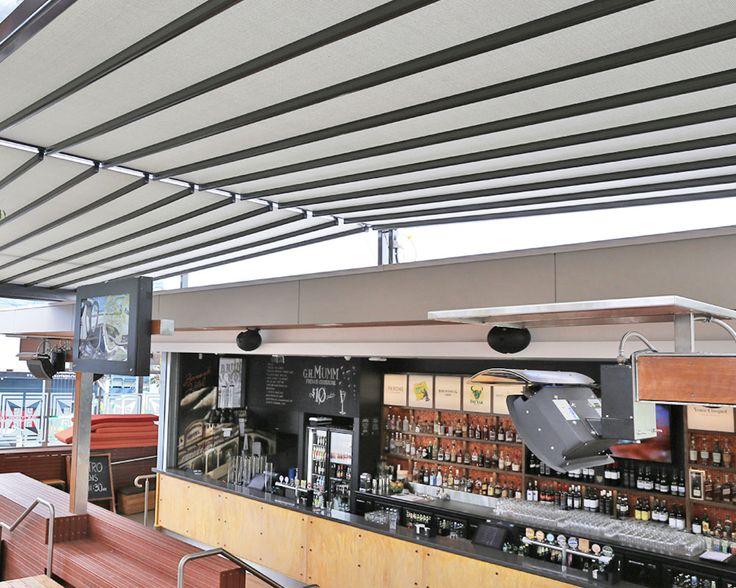 Brunswick Hotel (Fortitude Valley. Brisbane) - Installation of Mediterranea retractable fabric roofs by Vanguard Blinds