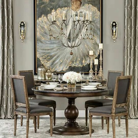 Oh My...LOVE this! The grey tones and textures are fantastic. The lighting and art really compliment one-another!
