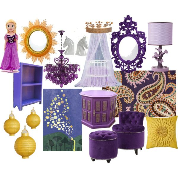"""Tangled (Rapunzel) nursery"" by molly-pop on Polyvore"