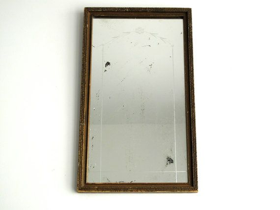 Antique wall mirror wood frame etched mirror for Wood framed mirrors for bathrooms