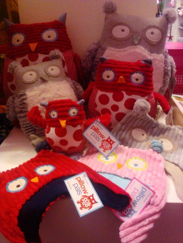 Owls, owls everywhere...Owl Pillow Pals, Owl Doorstops, Musical Owl, Owl Baby Bonnet by Annabel Trends