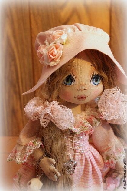 Девочка с корзинкой. - розовый,кукла,кукла ручной работы,текстильная кукла