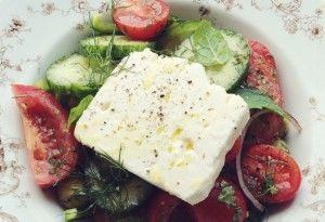 Feta salade chez wood