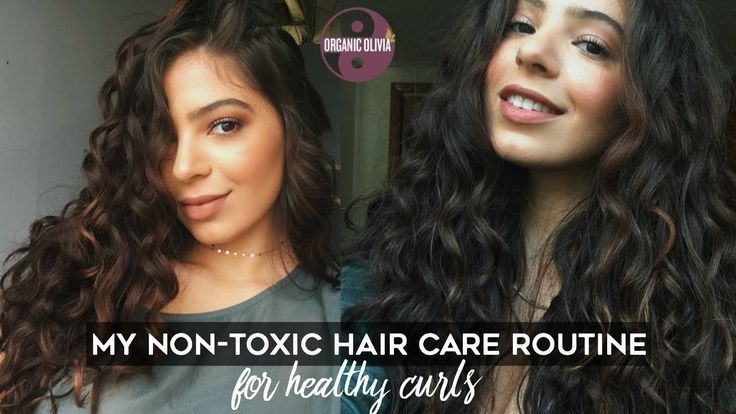 MY NONTOXIC HAIR ROUTINE for healthy curls! + dandruff