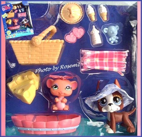 Littlest PET Shop LPS Playset 2007 Picnic IN THE Park Great Dane 588 Mouse 589 | eBay