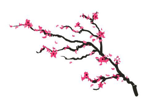 Cherry blossom branch - Temporary tattoo | myTaT.com