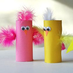 Cardboard Tube Birds These adorable little springtime birds are made from construction paper and cardboard tubes! A fun and colorful craft the kids… Funfamilyfun.com