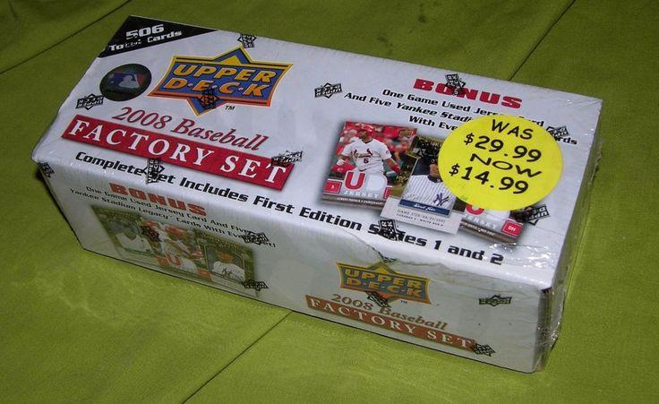 2008 UPPER DECK BASEBALL CARD FACTORY SEALED SET 506 CARDS NIB YANKEES + JERSEY