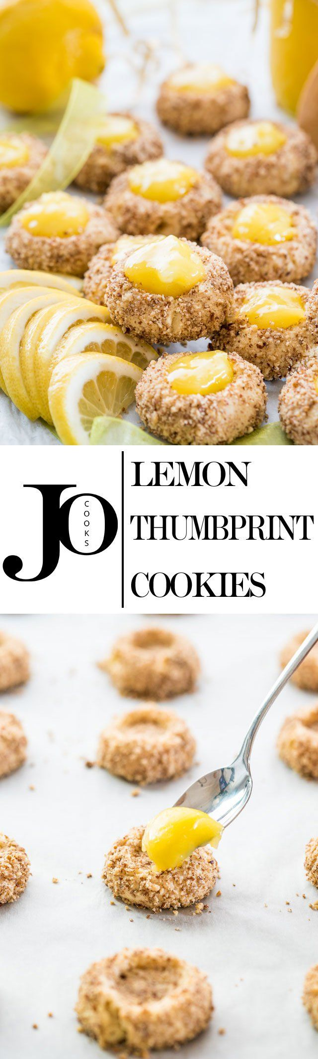 These Lemon Thumbprint cookies are sure to be a tasty addition to any treat table or gifted tin.