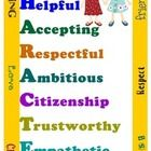 PLEASE RATE ME…I'M FREE! Use this vibrant poster to help promote character traits and help your students understand that their Character Matters.  ...