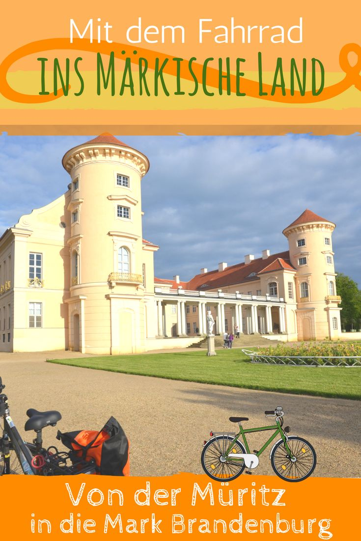 Starten Sie Ihre Radrundfahrt an der Müritz und entdecken Sie auf Ihrer Route den Müritz-Nationalpark, bis Sie schließlich fast unbemerkt in die märkische Seenlandschaft hinübergleiten. Die hübsche Stadt Rheinsberg mit ihrem wunderschönen Schloss direkt am See ist sicher ein Highlight. #Reise #Deutschland #Outdoor #mecklenburg #brandenburg #rheinsberg