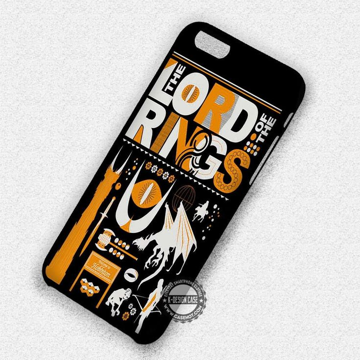 The Lord of The Rings Art Collage - iPhone 7 6 5 SE Cases & Covers