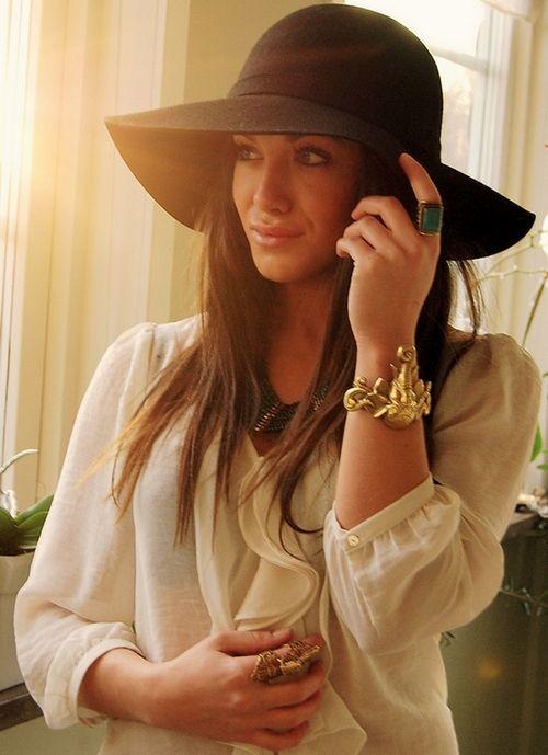 Now that's a woman !Bohemian Fashionista, Style, Clothing, Closets, Bohemian Chic, Sheer Shirts, Fashion Accessories, Big Sun Hats, Hair Accessories