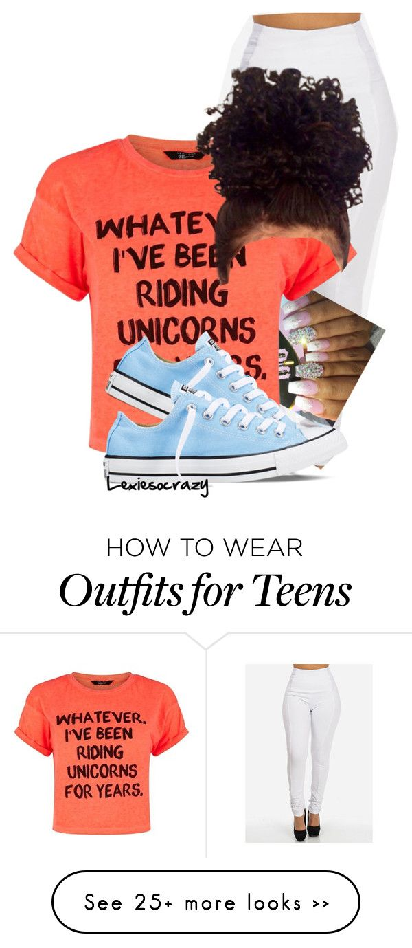 """Getting the kids"" by lexiesocrazy on Polyvore featuring Converse"