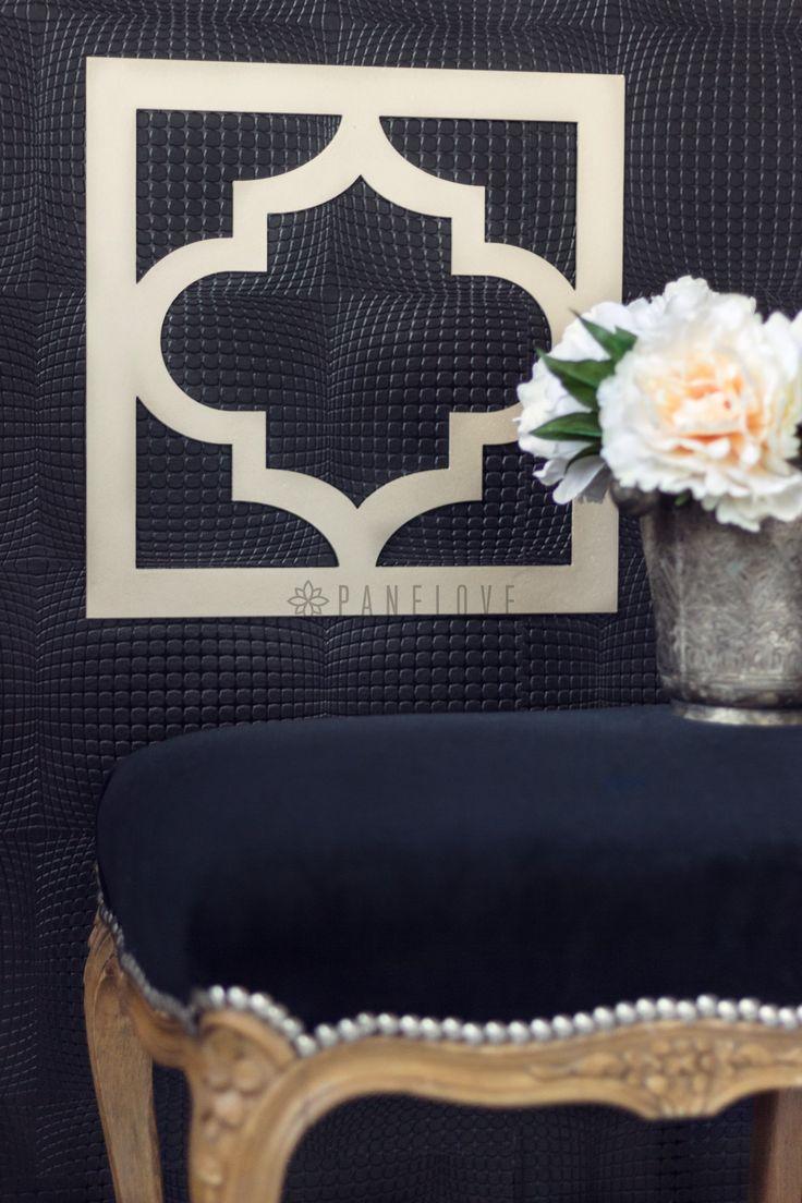 Dekoracyjny panel kwadratowy do luster IKEA - koniczyna marokańska